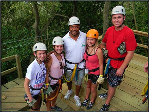 The Best of Roatan tour zipline tour and snorkeling